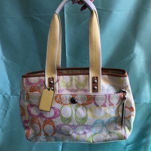 Rare Coach Hampton Scribble Handbag